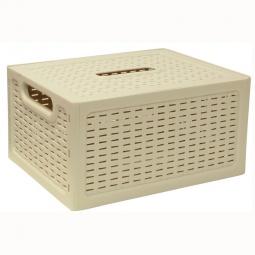 фото Ящик складной с крышкой IDEA. Цвет: белый. Габариты: 280x200x370
