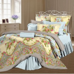 фото Комплект постельного белья Романтика «Антуанетта». 2-спальный. Размер наволочки: 70х70 см — 2 шт