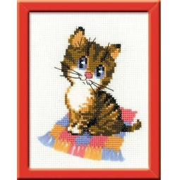 фото Набор для вышивания крестиком Сотвори Сама П-068 «Котенок»