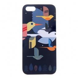 фото Чехол для iPhone 5 Mitya Veselkov «Птицы». Цвет: темно-синий