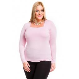 фото Кофта Mondigo XL 7014. Цвет: бледно-розовый. Размер одежды: 52