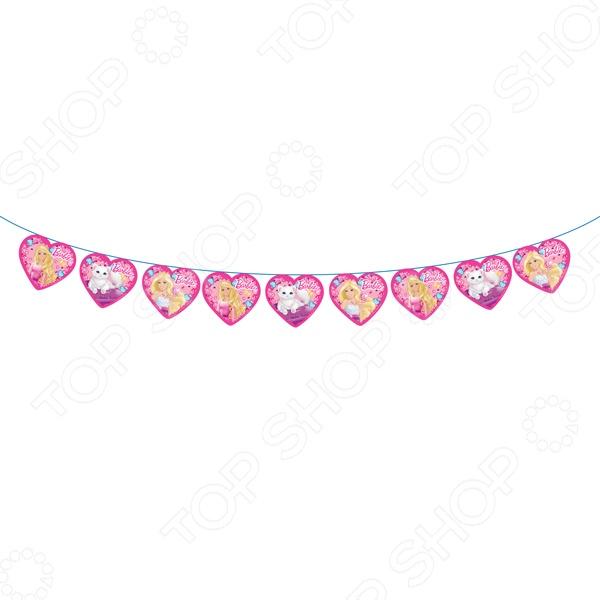 Гирлянда из флажков Росмэн 28300 «Barbie. С днем рождения!» веселый праздник гирлянда буквы с днем рождения barbie