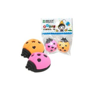 Купить Набор ластиков-игрушек Beifa «Божья коровка». В ассортименте