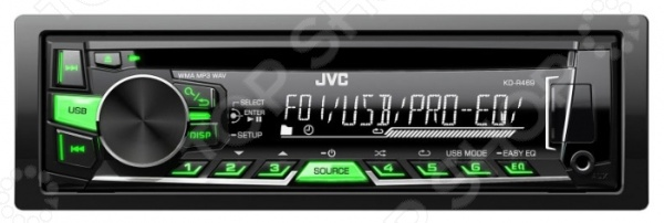 Автомагнитола JVC KD-R469EY автомагнитола kenwood kdc 300uv usb mp3 cd fm rds 1din 4х50вт черный