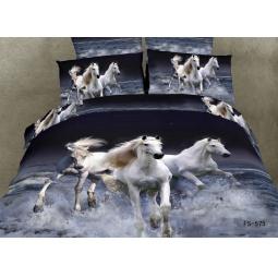 фото Комплект постельного белья Domomania Troyka. Satin Fotoprint. 2-спальный