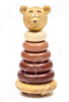 Игрушка-пирамидка Томик «Медвежонок» томик пирамидка зайчонок 7 деталей томик