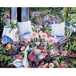 фото Набор для раскрашивания по номерам Белоснежка «В окружении цветов»