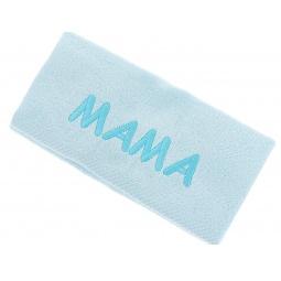 фото Полотенце подарочное с вышивкой TAC Мама. Цвет: бирюзовый