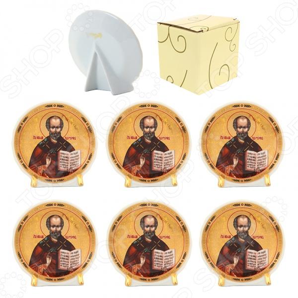 Набор декоративных тарелок Elan Gallery «Николай Чудотворец» круглый набор декоративных тарелок elan gallery казанская божья матерь круглый