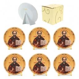 Купить Набор круглых декоративных тарелок Elan Gallery «Николай Чудотворец»