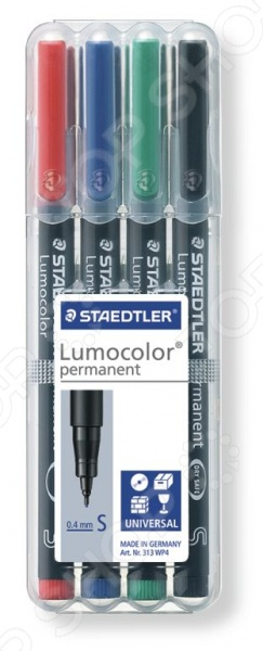 Набор перманентных маркеров Staedtler 313WP4