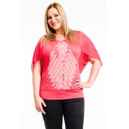 фото Кофта Mondigo XL 8510. Цвет: коралловый. Размер одежды: 52