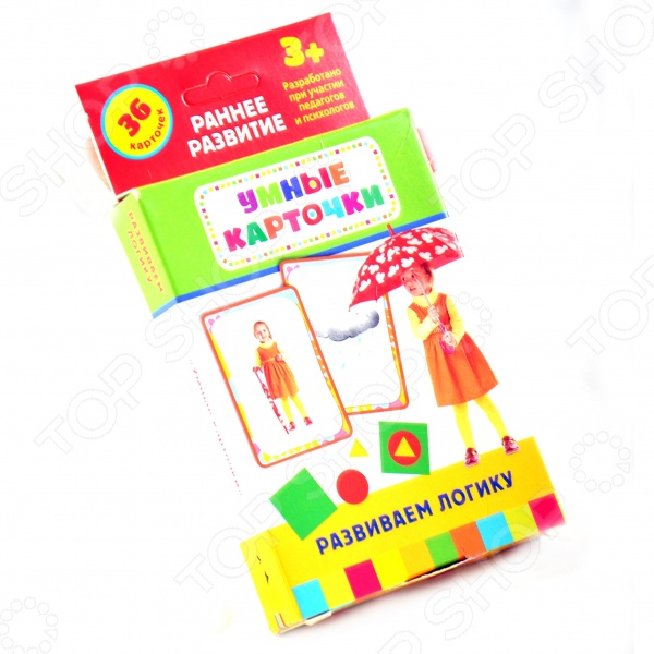 Комплект Умные карточки для детей от трех лет - набор из 36 карточек с красочными фотографиями, понятными, интересными заданиями, занимательными играми и методическими рекомендациями.