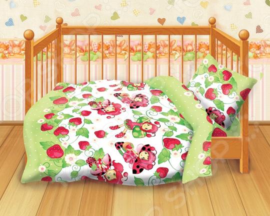 Детский комплект постельного белья Кошки-Мышки Клубничка кошки мышки детский комплект малыши кошки мышки