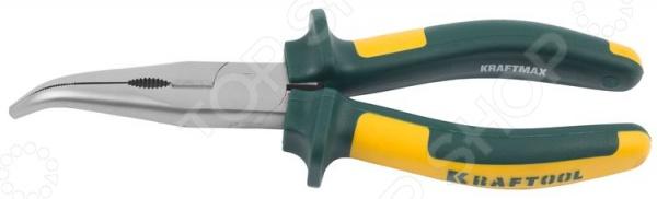 Тонкогубцы изогнутые Kraftool Kraft-Max 22011-4-20 клещи переставные kraftool 22011 10 25