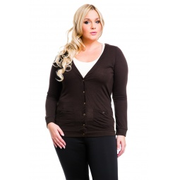 фото Жакет Mondigo XL 8505. Цвет: коричневый. Размер одежды: 48