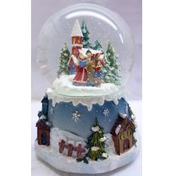 фото Снежный шар музыкальный Crystal Deco «Рождественское пение»