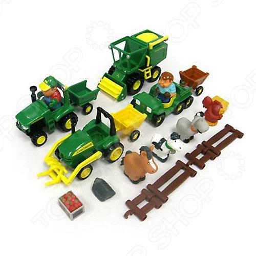 Игровой набор Tomy «Веселая ферма» tomy игровой набор приключения трактора джонни и поросенка на ферме с 18 мес