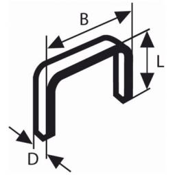 Купить Набор скоб для степлера из нержавеющей стали Bosch тип 53