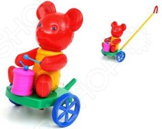 Каталка для малыша Suchanek «Мишка с барабаном» каталка s s toys слон с барабаном 0356 в пакете
