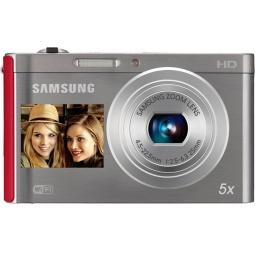 фото Фотокамера цифровая Samsung DV300. Цвет: серебристый, красный
