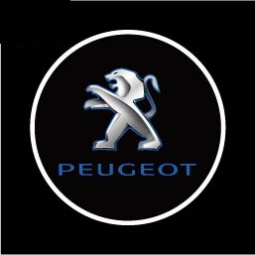 фото Светодиодные проекторы Courtesy door ligh логотипа автомобиля Peugeot