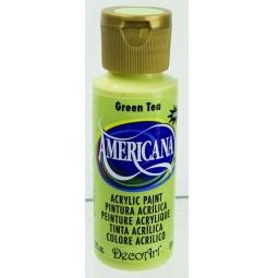 фото Краска акриловая DecoArt Премиум Americana. Цвет: зеленый чай