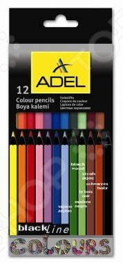 Набор карандашей цветных ADEL BlacklinePB 211-2312-000