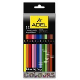 Купить Набор карандашей цветных ADEL BlacklinePB 211-2312-000