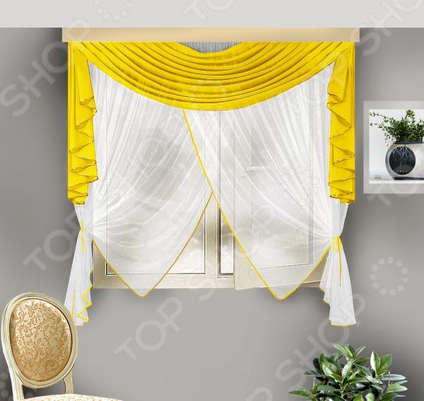 Комплект штор для кухни Zlata Korunka Б108 шторы интерьерные zlata korunka комплект штор