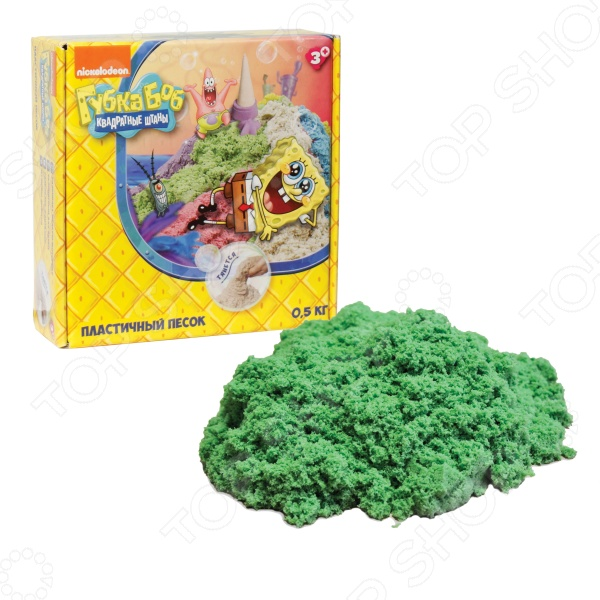 Песок кинетический 1 Toy «Губка Боб» Песок кинетический 1 Toy «Губка Боб» Т58370 /Зеленый