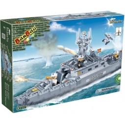 фото Конструктор Banbao Военный морской корабль, 458 деталей