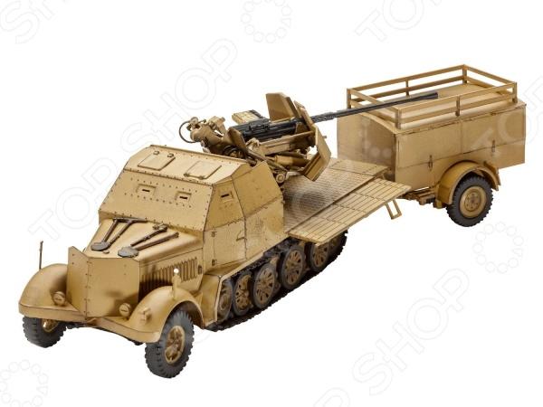 Сборная модель тягача Revell Sd.Kfz. 7/2 б у резину для американского тягача