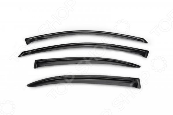 Дефлекторы окон Novline-Autofamily Volkswagen Jetta 2011Дефлекторы<br>Дефлекторы окон Novline-Autofamily Volkswagen Jetta 2011 аксессуар, осуществляющий защиту боковых окон автомобиля от загрязнения. Ведь во время передвижения в дождливую погоду вода с лобового стекла сгоняется дворниками к краям, а затем ветром переносится на боковые стекла, образуя подтеки. Дефлекторы помогут решить эту проблему. Еще они позволяют направить в салон поток свежего воздуха, обеспечивая естественную вентиляцию. Кроме того, изделия станут завершающим штрихом в дизайне вашего автомобиля, поскольку выполнены с учетом особенностей конкретной марки и модели машины. Это также гарантирует высокую совместимость, ведь в процессе создания изделий используется метод объемного сканирования кузова. Дефлекторы производятся из качественного полимерного материала, обладающего следующими свойствами:  Нейтральность к агрессивному воздействую различных химических сред.  Устойчивость к воздействию ультрафиолетовых лучей.  Экологическая безопасность. Набор предназначен для установки на 4 окна. Товар, представленный на фотографии, может незначительно отличаться по форме от данной модели. Фотография представлена для общего ознакомления покупателя с цветовым ассортиментом и качеством исполнения товаров данного производителя.<br>