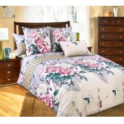 фото Комплект постельного белья Белиссимо «Поэзия». 2-спальный. Цвет: серый