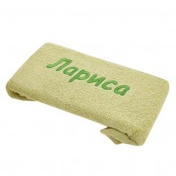 фото Полотенце подарочное с вышивкой TAC Лариса. Цвет: зеленый
