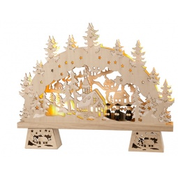 фото Декорация с подсветкой Star Trading «Сельская церковь»