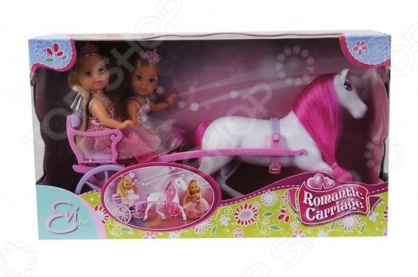 Набор игровой Simba «Две принцессы Еви и лошадь с каретой» лошадка simba с каретой 4410389