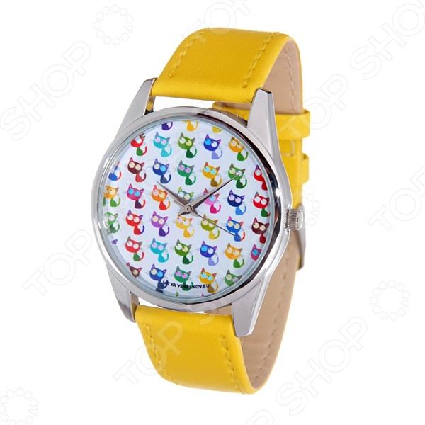 Часы наручные Mitya Veselkov «Много кошек» Gold часы наручные mitya veselkov now gold
