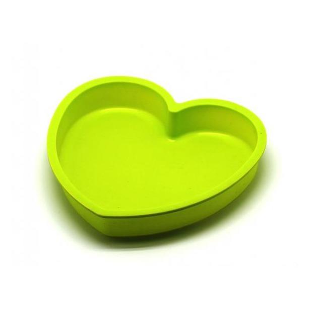фото Форма для выпечки силиконовая Atlantis «Сердце» SC-BK-017. Цвет: салатовый