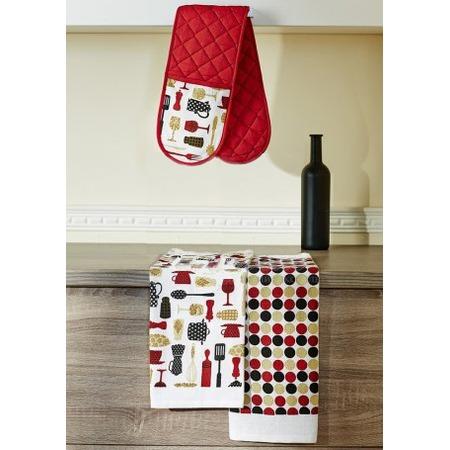 Купить Набор кухонный: прихватка двойная и 2 полотенца Primavelle «Дизайн»