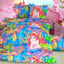 Купить Комплект постельного белья ТексДизайн «Морская сказка». 1,5-спальный