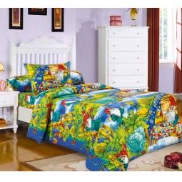 фото Ясельный комплект постельного белья Бамбино «Гномики»