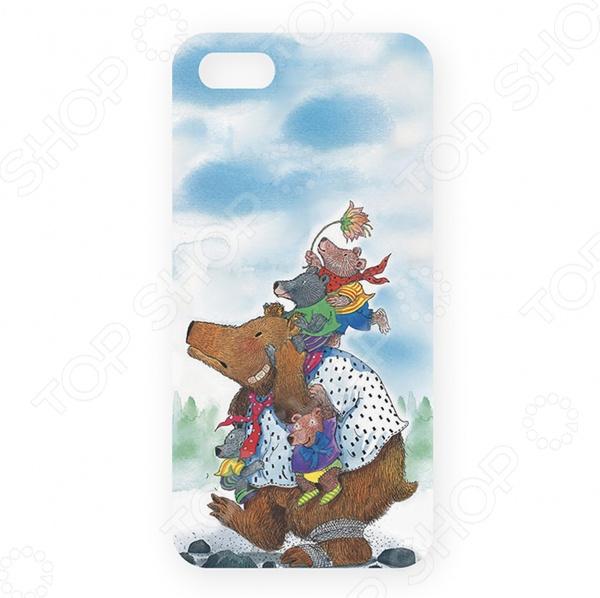Чехол для iPhone 5 Mitya Veselkov «Медведица с медвежатами» цена