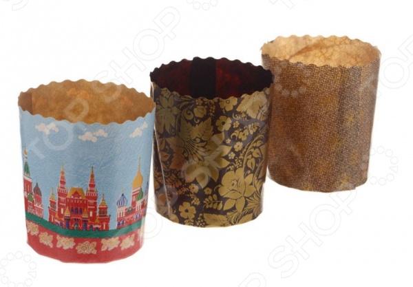 Набор бумажных форм для выпечки куличей Marmiton 11367