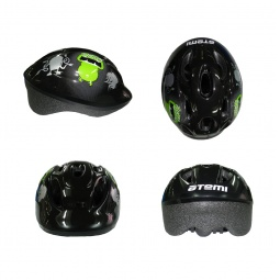 фото Шлем защитный ATEMI AJH-01. Цвет: зеленый, черный. Размер: S (48-52)