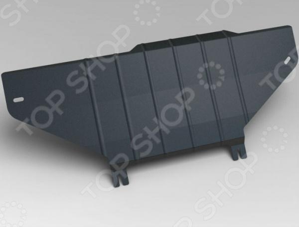Комплект: защита раздаточной коробки и крепеж Novline-Autofamily Jeep Grand Cherokee 2011: 3,0 дизель/3,6 бензин АКППЗащита картера двигателя<br>Комплект: защита раздаточной коробки и крепеж Novline-Autofamily Jeep Grand Cherokee 2011: 3,0 дизель 3,6 бензин АКПП защитный набор для автомобильного двигателя и раздаточной коробки, весьма актуальный в условиях бездорожья. Установленный комплект представлен в виде металлической конструкции, чьей основной функцией является предотвращение механических повреждений во время наезда на препятствие. Изделие имеет дополнительные ребра жесткости для большей прочности. Крепежные элементы выполнены из холоднокатаной стали с катодно-цинковым и порошковым покрытиями против ржавчины и заедания резьбы при установке. Элементы защиты легко устанавливаются, не нарушая температурный режим и выхлопную систему машины. Современный метод 3D-сканирования позволил индивидуально разработать данный комплект ЗР специально для автомобиля Jeep Grand Cherokee. Высокоточные лазерные резаки и современные способы покраски гарантируют высокое качество изделия. В крепеже предусмотрены отверстия для слива масла, облегчая тем самым техническое обслуживание. Специальные демпферы предотвращают возникновение вибрации во время движения, надежно оберегая нижнюю часть кузова от ударов и трений с защитой. Товар, представленный на фотографии, может незначительно отличаться по форме от данной модели. Фотография представлена для общего ознакомления покупателя с цветовым ассортиментом и качеством исполнения товаров данного производителя.<br>