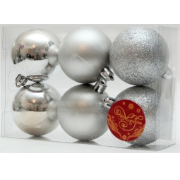 фото Набор новогодних шаров Феникс-Презент 38996 «Ассорти»
