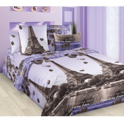 фото Комплект постельного белья Королевское Искушение с компаньоном «Романтика Парижа». 2-спальный