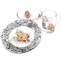 Купить Набор посуды: тарелочка, салатник, кружка Monster High